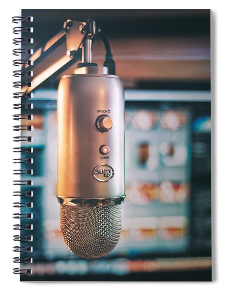Mic Check 1 2 3 Spiral Notebook by Scott Norris