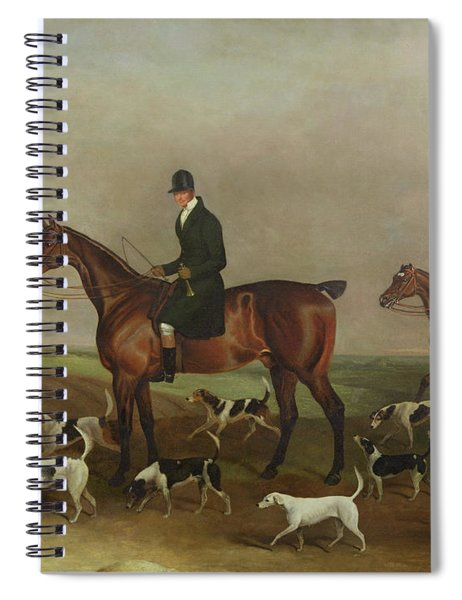 Michael Beverley With His Whipper In And Harriers Spiral Notebook