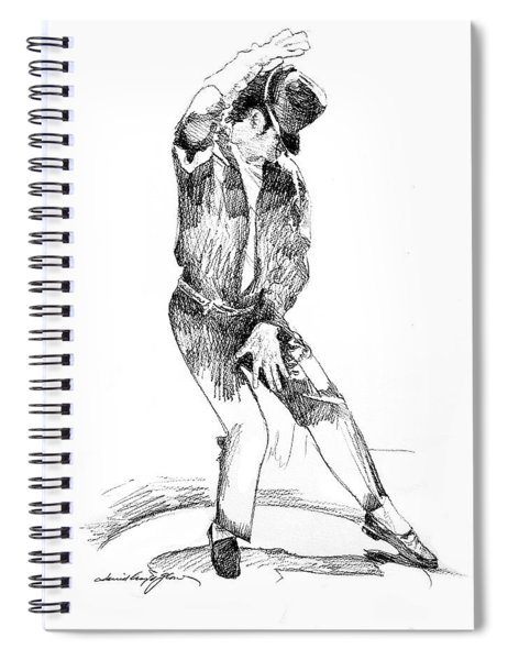 Michael Jackson Dancer Spiral Notebook