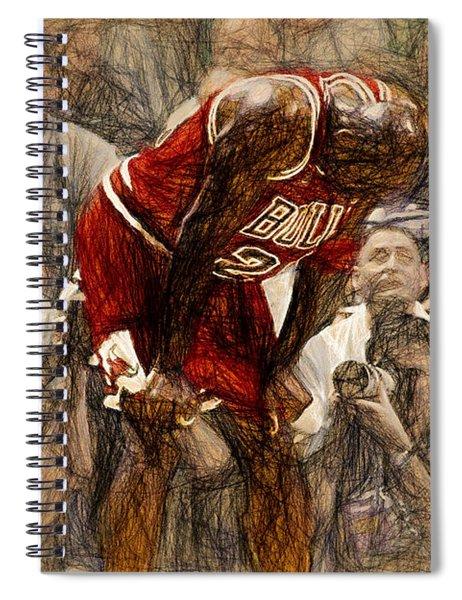 Michael Jordan The Flu Game Spiral Notebook