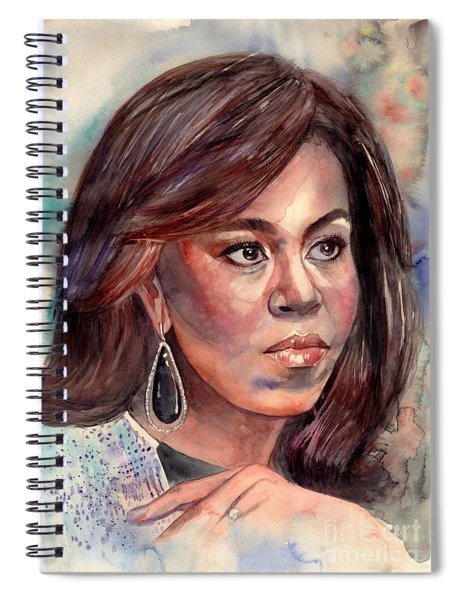 Michelle Obama Portrait Spiral Notebook
