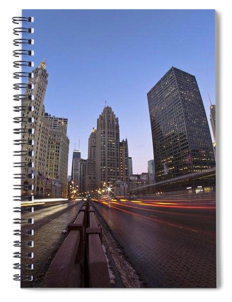 Michgan Avenue Action Spiral Notebook