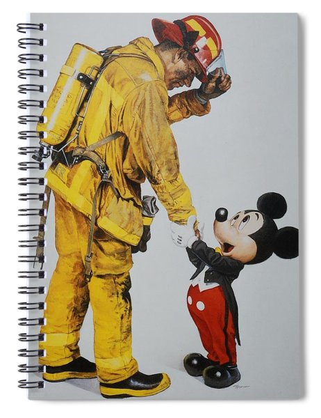 Mickey And The Bravest Spiral Notebook