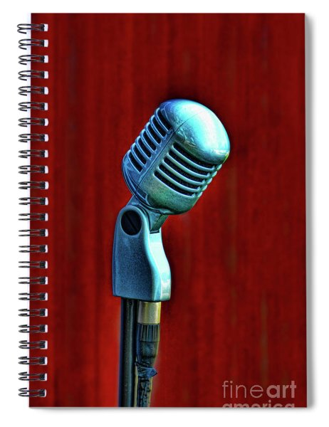 Microphone Spiral Notebook