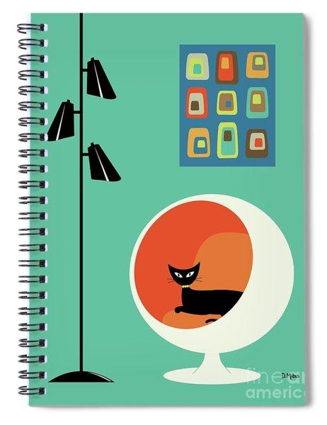 Mid Century Mini Oblongs Spiral Notebook