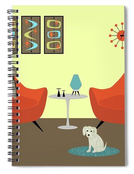 Mid Century Modern Dogs 1 Spiral Notebook