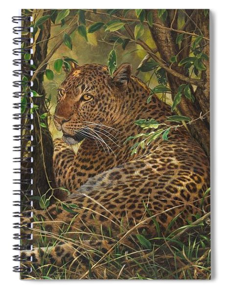 Spiral Notebook featuring the painting Midday Siesta by Alan M Hunt
