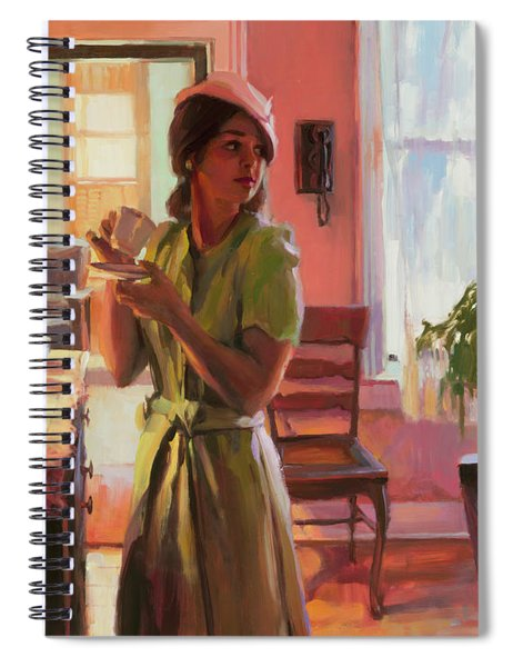 Midday Tea Spiral Notebook