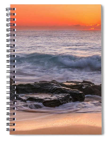 Middle Beach Sunrise Spiral Notebook