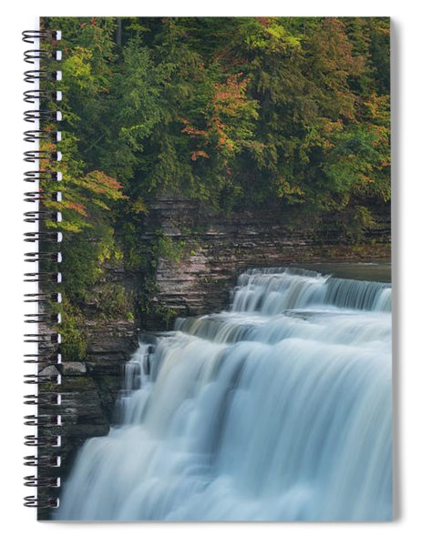 Middle Falls At Letchworth State Park Spiral Notebook