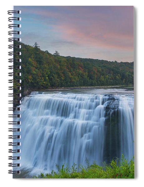 Middle Falls Sunset  Spiral Notebook