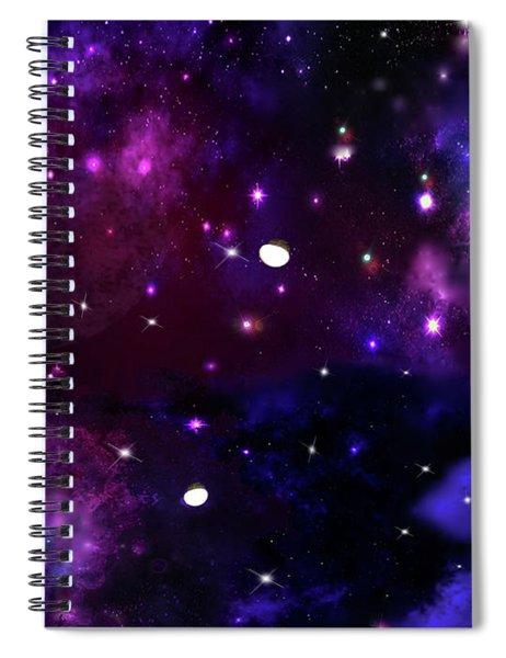 Midnight Blue Purple Galaxy Spiral Notebook