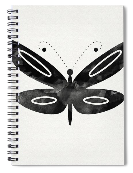 Midnight Butterfly 1- Art By Linda Woods Spiral Notebook