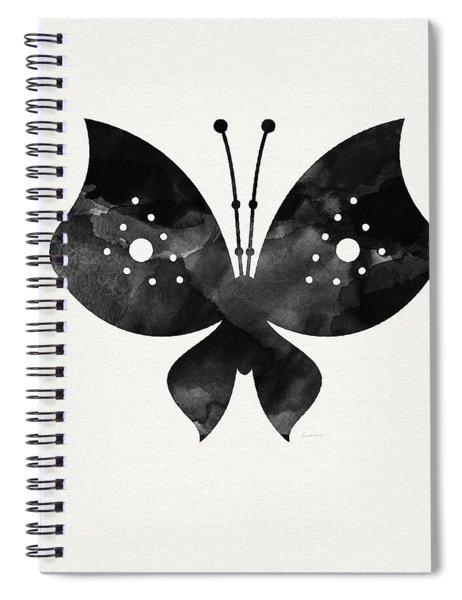 Midnight Butterfly 2- Art By Linda Woods Spiral Notebook