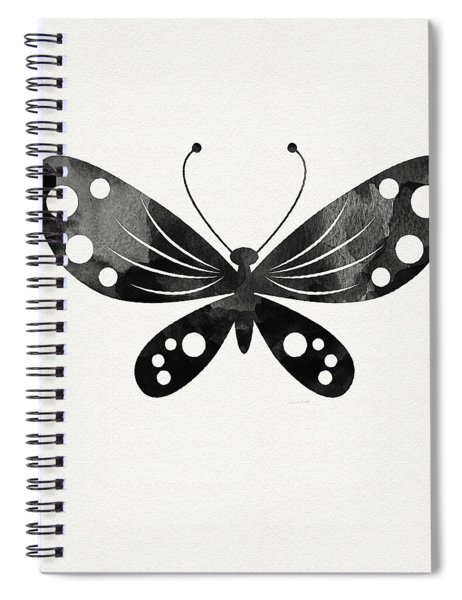 Midnight Butterfly 3- Art By Linda Woods Spiral Notebook