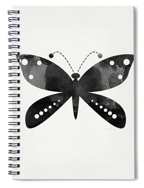 Midnight Butterfly 4- Art By Linda Woods Spiral Notebook