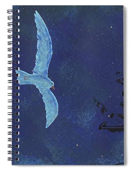 Spiral Notebook featuring the painting Midnight by Manuel Sueess