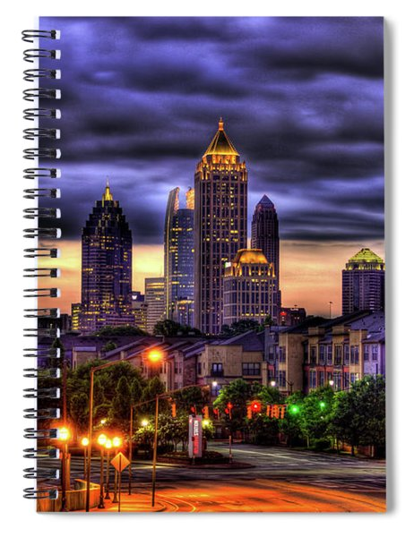 Midtown Atlanta Towers Over Atlantic Commons Art Spiral Notebook