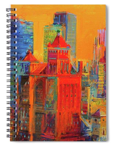 Midtown Manhattan From The Waldorf Spiral Notebook