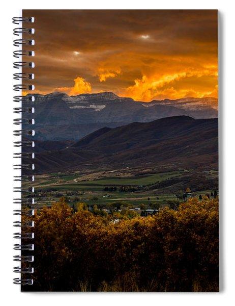 Midway Utah Sunset Spiral Notebook