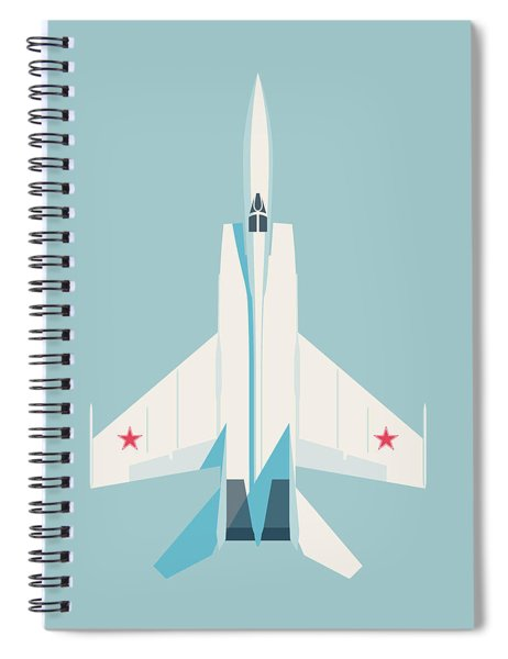 Mig-25 Foxbat Interceptor Jet Aircraft - Sky Spiral Notebook