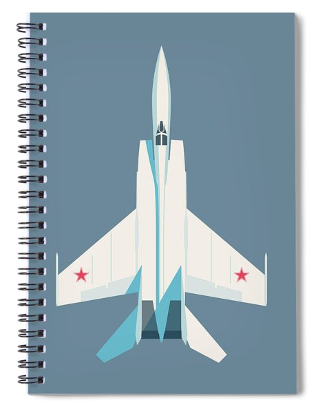 Mig-25 Foxbat Interceptor Jet Aircraft - Slate Spiral Notebook
