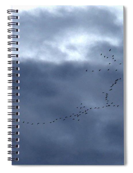 Southbound Geese Spiral Notebook