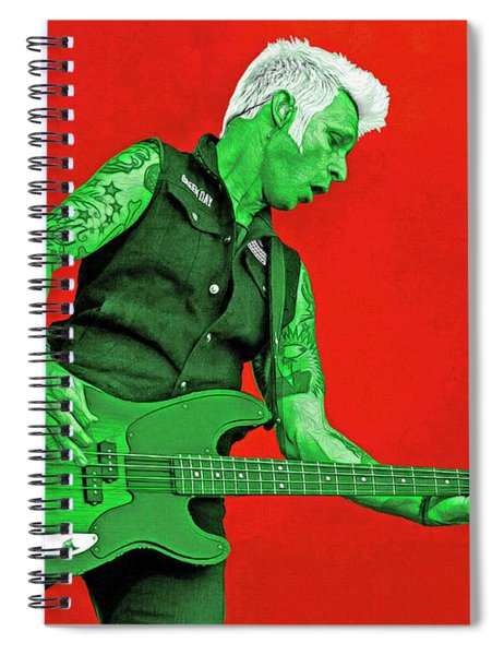 Mike Dirnt Green Day Spiral Notebook