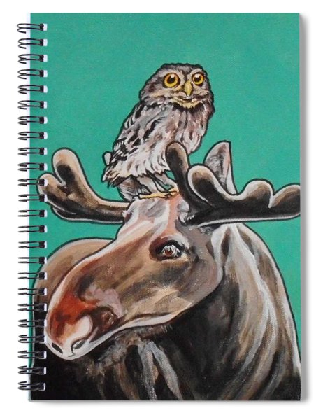 Mike The Moose Spiral Notebook