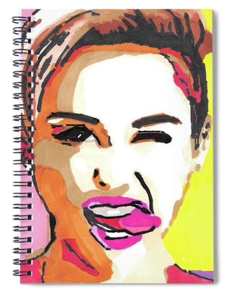 Miley Cyrus Pop Art Painting Spiral Notebook