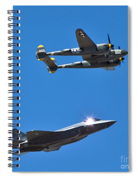 Military Airplanes Flyover Spiral Notebook