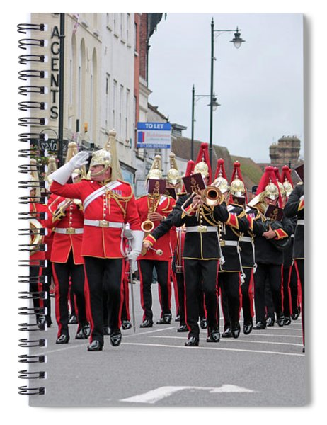 Military Marching Band Dorking Surrey Uk Spiral Notebook