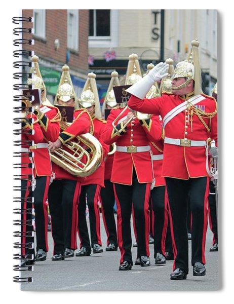 Military Parade Dorking Surrey Uk Spiral Notebook