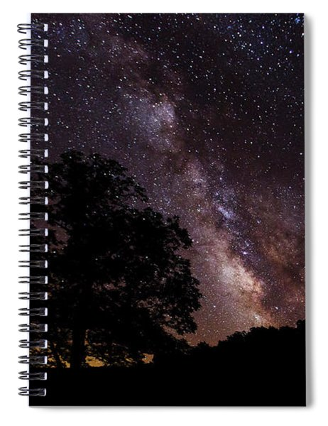 Milky Way And The Tree Spiral Notebook