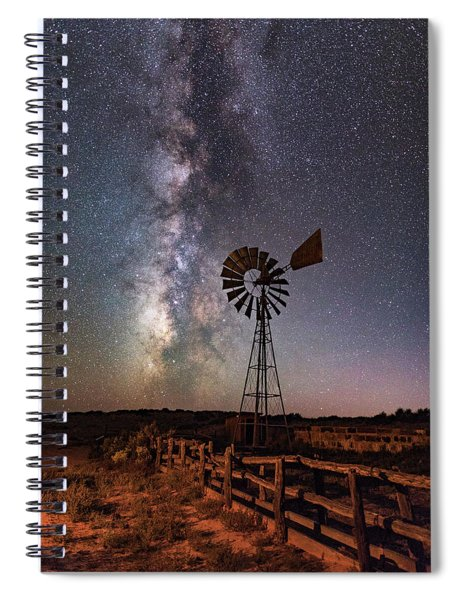 Milky Way At Dubinky Well Spiral Notebook