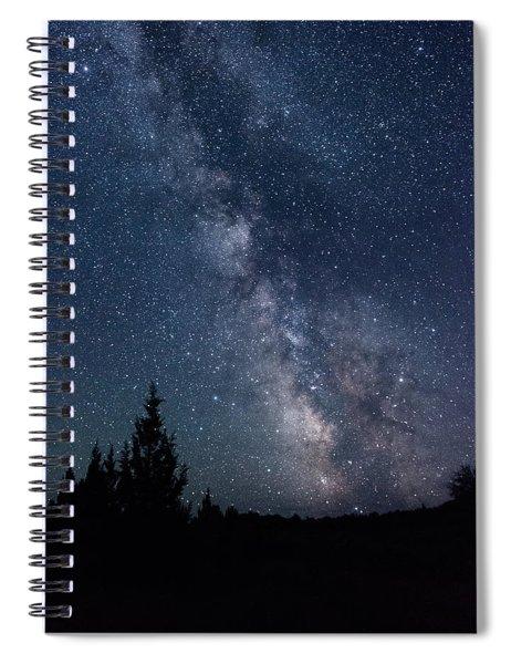 Milky Way At Eastern Oregon Wilderness Spiral Notebook