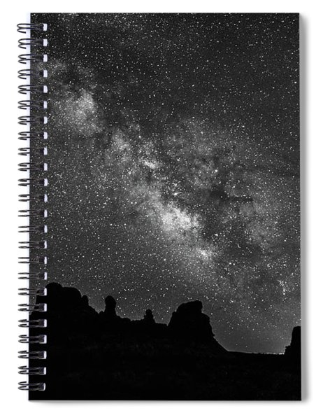 Milky Way At The Windows Spiral Notebook