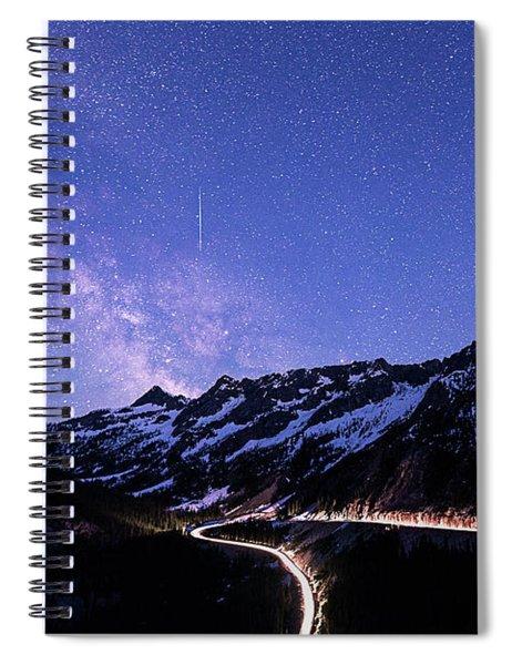 Milky Way At Washington Pass Spiral Notebook