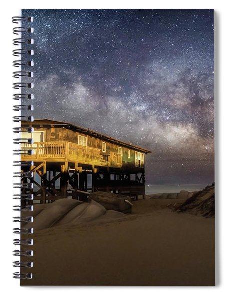 Milky Way Beach House Spiral Notebook