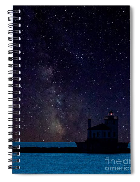 Milky Way Lighthouse Spiral Notebook