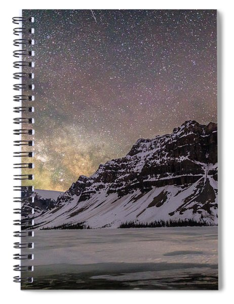 Milky Way Over Crowfoot Mountain Spiral Notebook