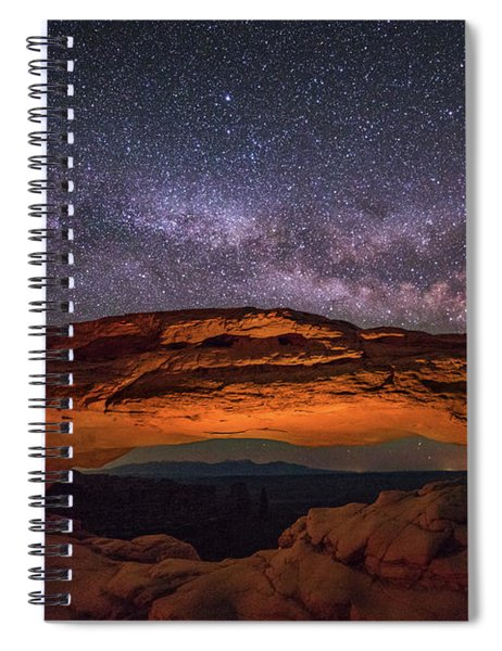 Milky Way Over Mesa Arch Spiral Notebook