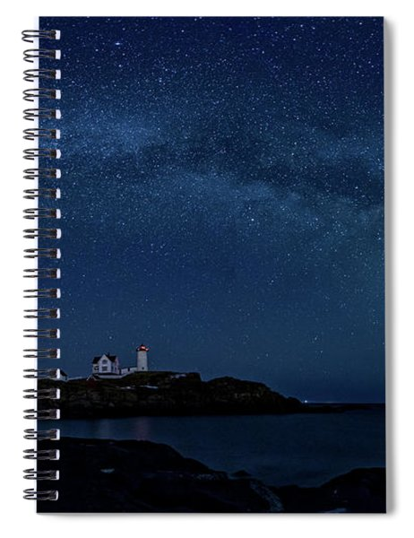 Milky Way Over Nubble Spiral Notebook