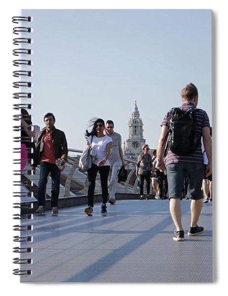 Millennium Bridge Crossing The Thames Spiral Notebook
