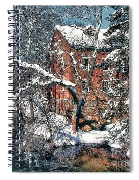 Mill House In Winter Spiral Notebook