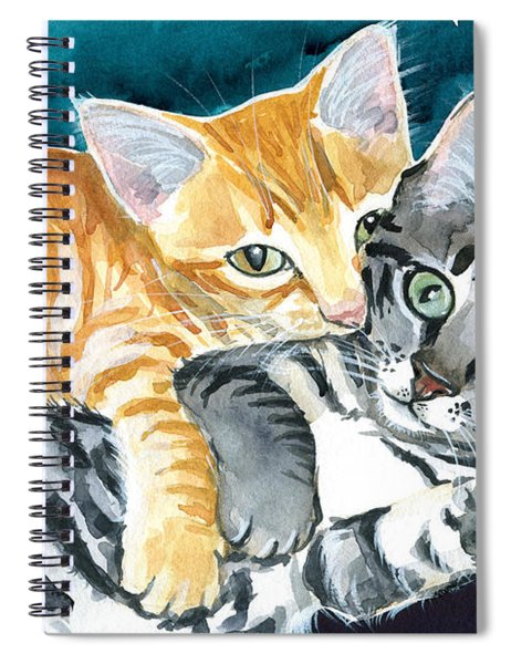 Milo And Tigger - Cute Kitty Painting Spiral Notebook