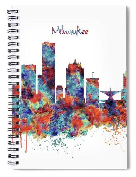 Milwaukee Watercolor Skyline Spiral Notebook
