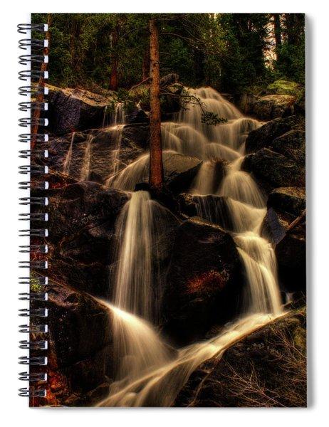 Quaking Aspen Falls Along Tioga Pass  Spiral Notebook