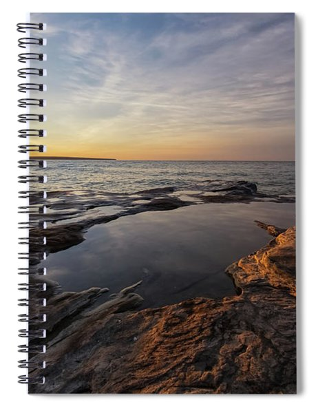Spiral Notebook featuring the photograph Miners Beach 2 by Heather Kenward