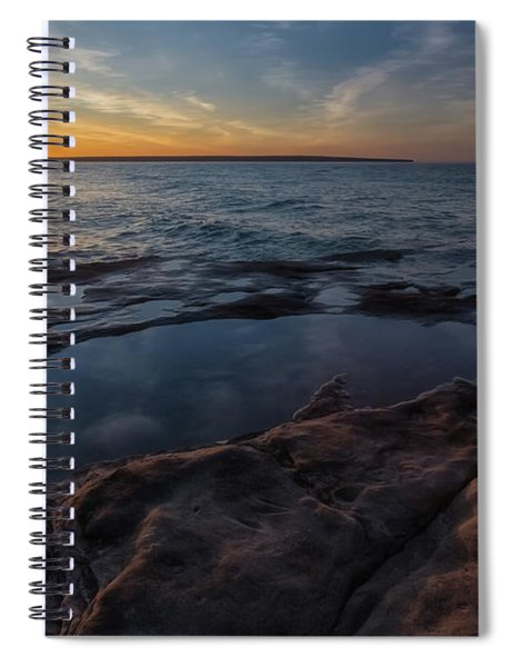Spiral Notebook featuring the photograph Miners Beach 3 by Heather Kenward
